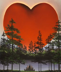 The Power of Love by Mackenzie Thorpe - Limited Edition on Paper sized 17x20 inches. Available from Whitewall Galleries